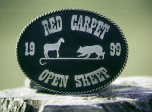 Red Carpet Trophy Buckle